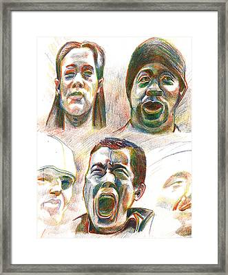 Framed Print featuring the drawing Nyc Expressions by Al Goldfarb