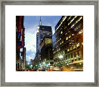 Framed Print featuring the photograph Nyc Fifth Ave by Vannetta Ferguson