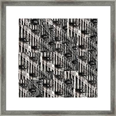 Nyc Fire Escapes Framed Print