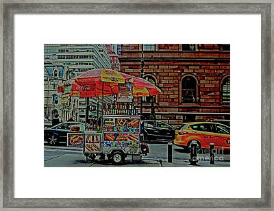 New York City Food Cart Framed Print