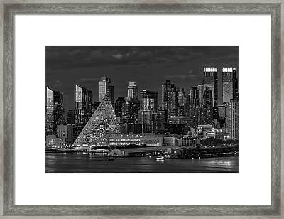 Framed Print featuring the photograph Nyc Golden Empire Bw by Susan Candelario