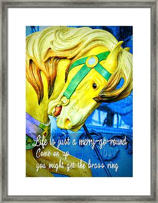 Nyc Golden Steed Quote Framed Print by JAMART Photography