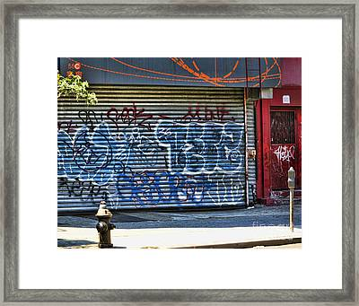 Nyc Graffiti Framed Print by Chuck Kuhn