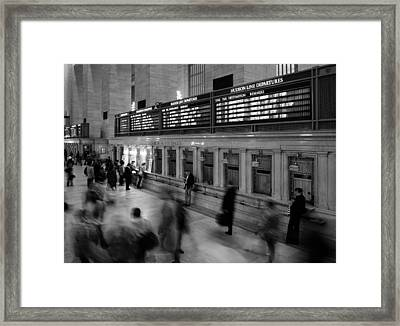 Nyc Grand Central Station Framed Print by Nina Papiorek