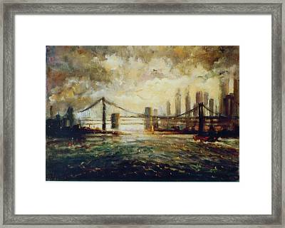 Nyc Harbor Framed Print