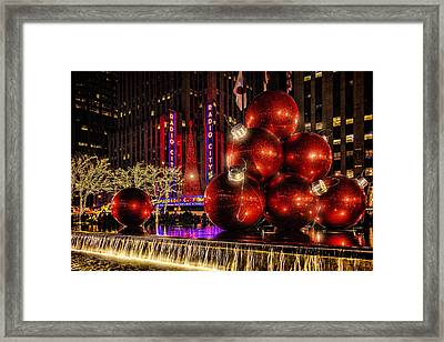 Framed Print featuring the photograph Nyc Holiday Balls by Chris Lord