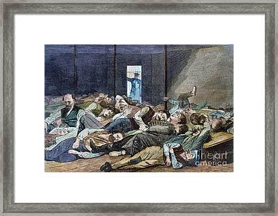 Nyc: Homeless, 1874 Framed Print by Granger