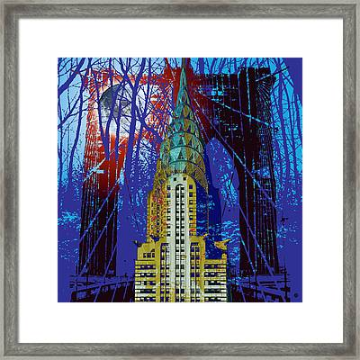 Nyc Icons Framed Print by Gary Grayson