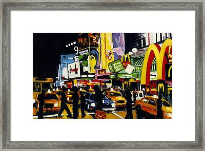 Nyc II The Temple Of M Framed Print by Robert Reeves