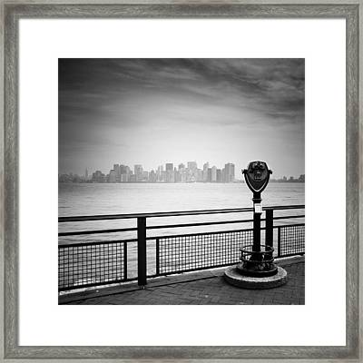 Nyc Manhattan View Framed Print by Nina Papiorek