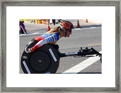 Nyc Marathon Edith Hunkeler 3 Framed Print
