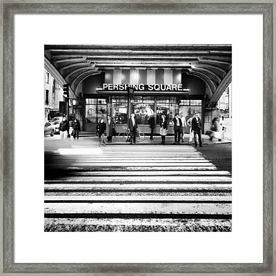 Nyc Pershing Square Framed Print