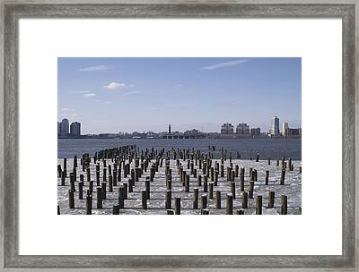 New York City Piers  Framed Print by Henri Irizarri