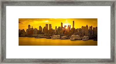 Nyc Ports Framed Print