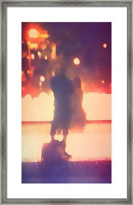 Nyc Romance Framed Print