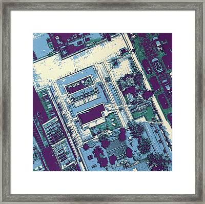 Nyc Roof Top Framed Print