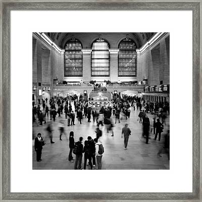 Nyc Rush Hour Framed Print by Nina Papiorek