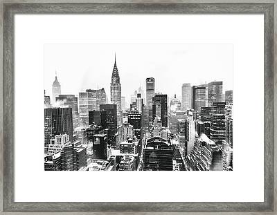 Nyc Snow Framed Print by Vivienne Gucwa