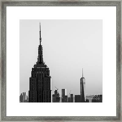 Nyc Standing Tall Framed Print