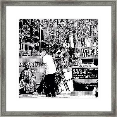 Nyc Street Scene Framed Print