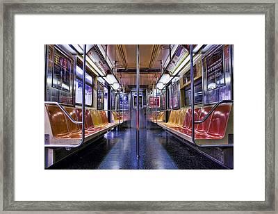 Nyc Subway Framed Print by Kelley King