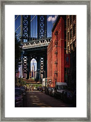Nyc Summer Postcard Framed Print by Eduard Moldoveanu