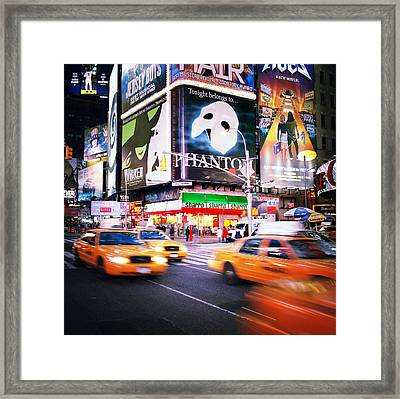 Nyc Taxi Taxi Framed Print