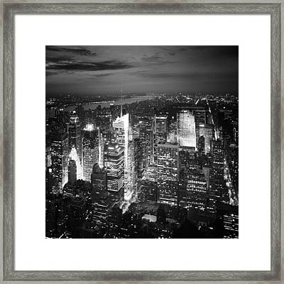 Nyc Times Square Framed Print by Nina Papiorek