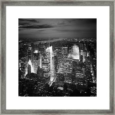 Nyc Times Square Framed Print by Nina Papiorek