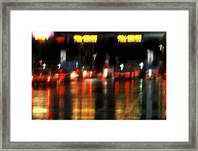 Nyc Toll Booth Framed Print by Brad Rickerby