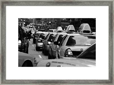 Nyc Traffic Bw16 Framed Print by Scott Kelley