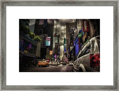 Nyc Traffic Framed Print by Martin Newman