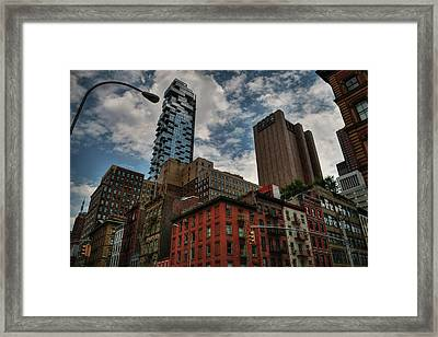 Framed Print featuring the photograph Nyc - Tribeca 002 by Lance Vaughn