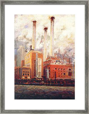 Nyc- View From East River  Framed Print