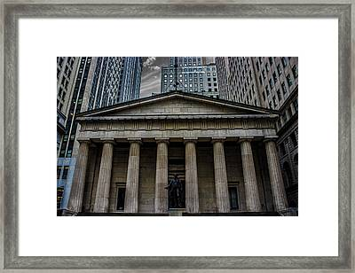 Nyc Wall Street Framed Print by Martin Newman