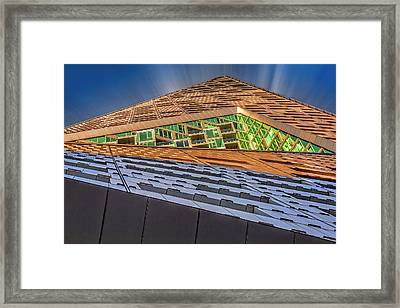 Framed Print featuring the photograph Nyc West 57 St Pyramid by Susan Candelario