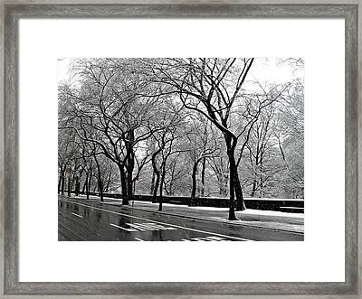 Nyc Winter Wonderland Framed Print