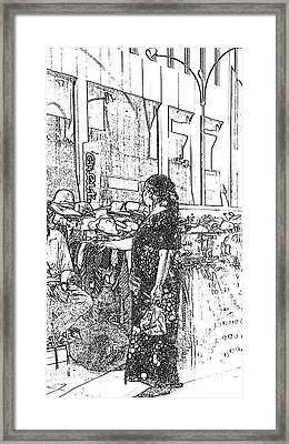 Nyc Woman Framed Print