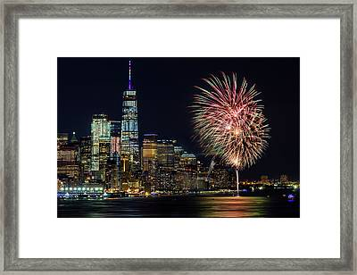 Framed Print featuring the photograph Nyc World Trade Center Pride by Susan Candelario
