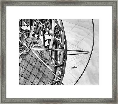 Nyc Worlds Fair 1964 Today Framed Print by Chuck Kuhn