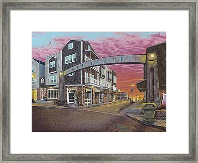 Nye Beach Sunset Framed Print by Andrew Palmer