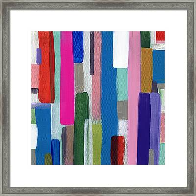 Nyhaven 2- Abstract Painting Framed Print by Linda Woods