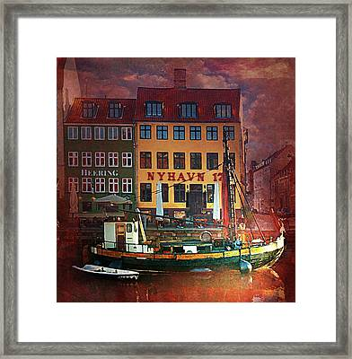 Framed Print featuring the photograph Nyhavn 17 by Jeff Burgess