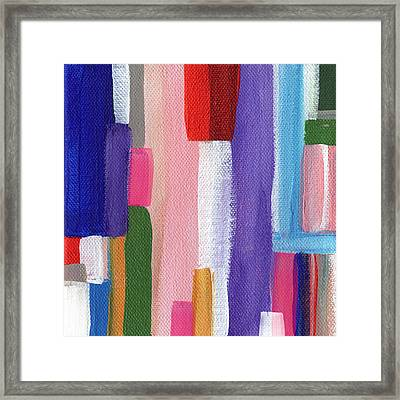 Nyhavn- Abstract Painting Framed Print by Linda Woods