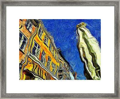 Nyhavn Cafe In Summer Framed Print