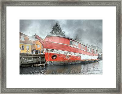Nyhavn Enchanting Character Framed Print by Betsy Knapp