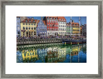 Nyhavn Harbor Area, Copenhagen Framed Print
