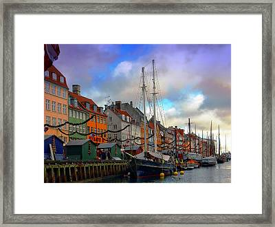 Nyhavn Harbour Framed Print by Dorothy Berry-Lound