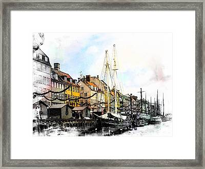 Nyhavn Harbour Impressions Framed Print by Dorothy Berry-Lound