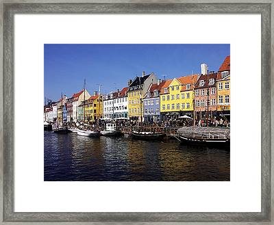 Framed Print featuring the photograph Nyhavn by Sascha Meyer